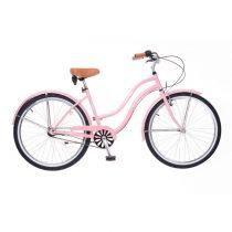 Neuzer California női Cruiser Kerékpár - 3 sebességes - agyváltós/kontrás - Rózsaszínben