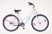 Neuzer Sunset női cruiser kerékpár - fehér/pillangós