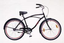 Neuzer Sunset férfi cruiser kerékpár - fekete/piros
