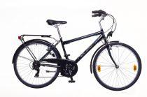 """Neuzer Venezia 30 - városi férfi kerékpár - fekete/szürke- fehér - 21"""""""