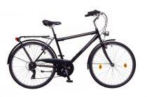 """Neuzer Venezia 30 - városi férfi kerékpár - fekete/kék- barna - 17"""""""