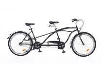 Neuzer Twilight tandem - 2 személyes kerékpár - Fekete/ezüst