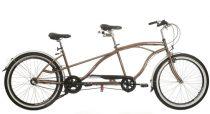 Neuzer Twilight tandem - 2 személyes kerékpár - Barna/ezüst