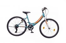 """Neuzer Cindy 24"""" lány gyermek kerékpár - 6 sebességes - Türkiz/fehér-sárga"""