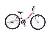 """Neuzer Cindy 24"""" lány gyerek kerékpár - 1 sebességes - Fehér/fehér-pink"""