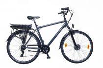 """Neuzer Lido férfi elektromos kerékpár - 21""""-os vázzal - szürke/barna"""