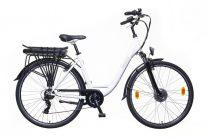 """Neuzer Lido női elektromos kerékpár - 19""""-os vázzal - fehér/barna"""