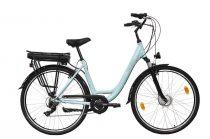 """Neuzer Lido női elektromos kerékpár - 19""""-os vázzal - celeste/fekete"""