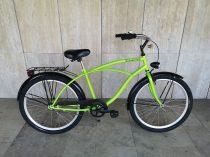 Toldi Cruiser - Férfi cruiser kerékpár - 1 sebességes - kontrás bicikli - Neon zöld színben