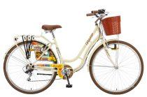 """Polar Grazzia városi kerékpár 28"""" - női - 6 sebességes - krém"""