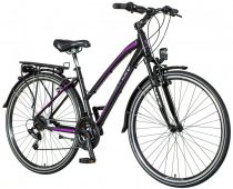 Visitor Terra Lady női trekking kerékpár Fekete-Lila
