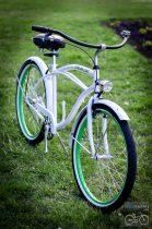 Cruiser kerékpár - fehér-zöld