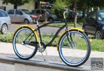 Egyedi Stray Cat Férfi Cruiser Kerékpár 1sp/ N3 - Fekete - Citrom - Kék