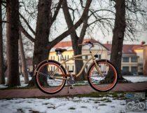 Stray Cat Egyedi Cruiser Kerékpár - krém-barna