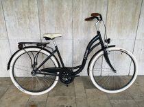 """Toldi női városi kerékpár - 1 sebességes kontrás - 26"""" - Fekete színben"""