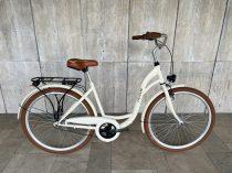 """Toldi női városi kerékpár - 3 sebességes kontrás agyváltós - 26"""" - Krém színben"""