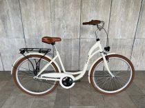 """Toldi női városi kerékpár - 6 sebességes láncváltós - 26"""" - Krém színben"""