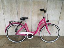 """Toldi női városi kerékpár - 1 sebességes kontrás - 26"""" - Pink színben"""