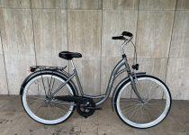 """Toldi női városi kerékpár - 1 sebességes kontrás - 26"""" - Titán színben"""