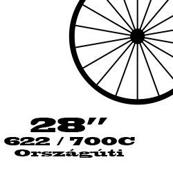 """28"""" / 622 / 700C Országúti hátsó kerék"""