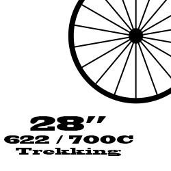 """28"""" / 622 / 700C Trekking első kerék"""