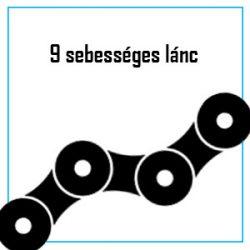 9 sebességes lánc