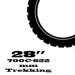 "Trekking külső - 28"" / 700C / 622 mm"