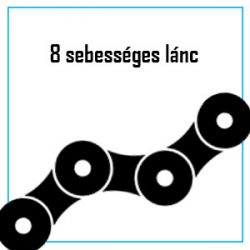 8 sebességes lánc