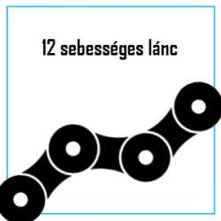 12 sebességes lánc