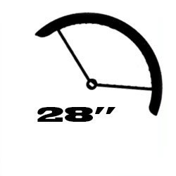 "28"" (ETRTO: 622mm gumimérethez)"