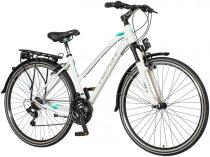 Visitor Terra Lady női trekking kerékpár - Fehér-menta