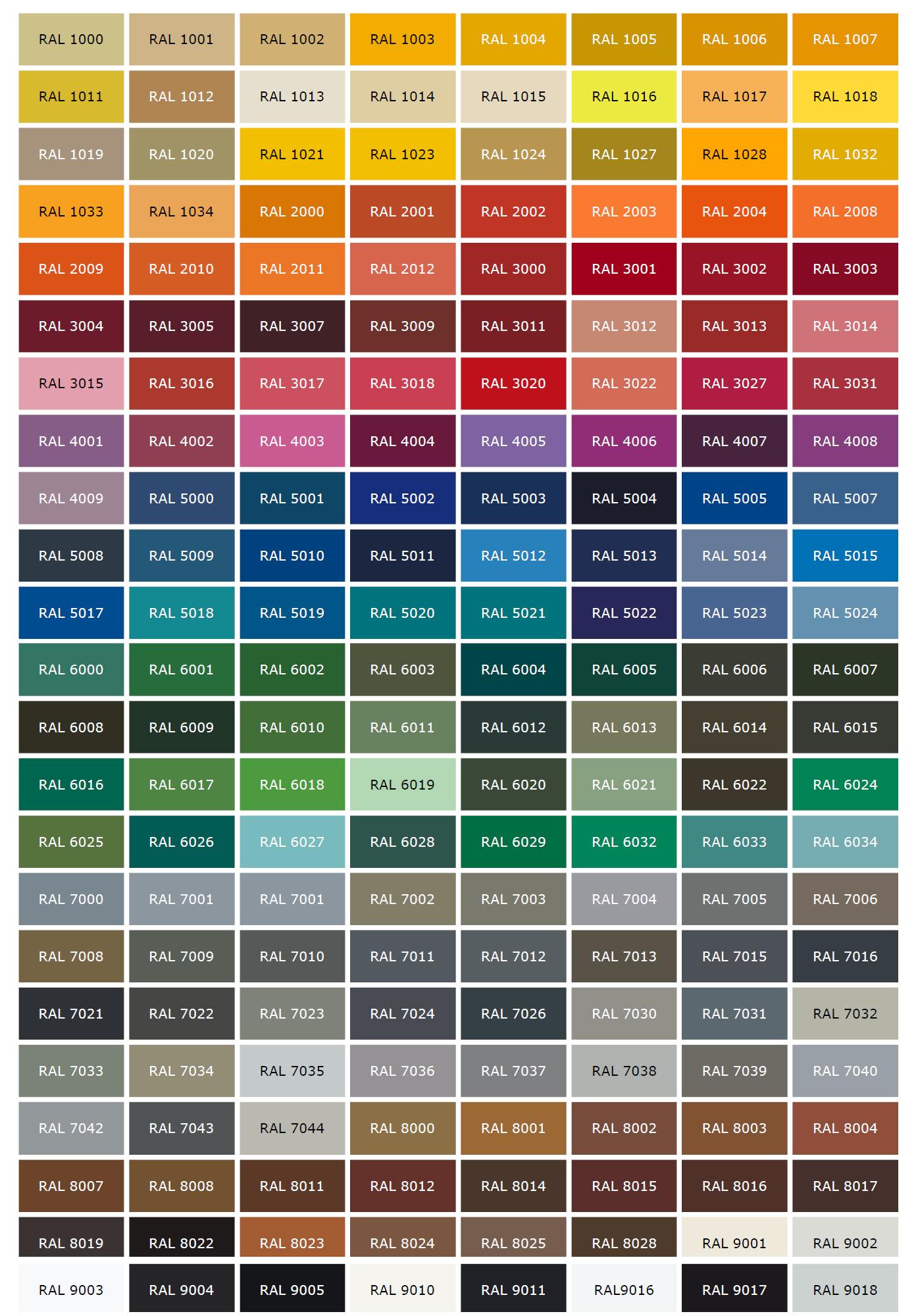 Egyedi kerékpár RAL színek