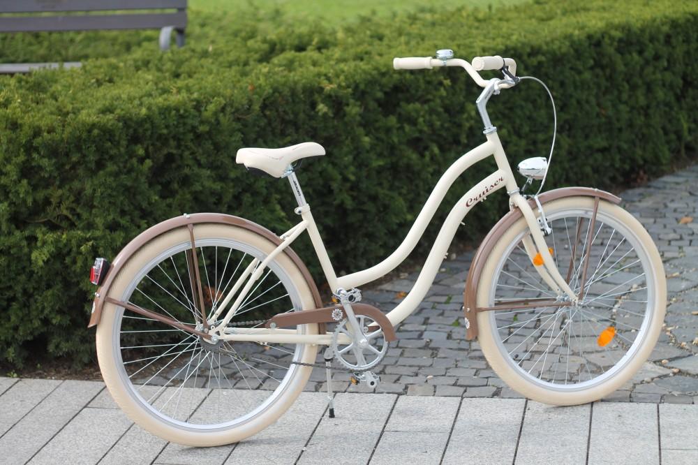 Egyedi Cruiser Női Kerékpár 1sp / 3 sp - Krém - Barna - Vaj