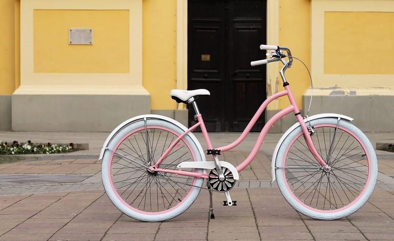 Egyedi Cruiser Női Kerékpár 1 / 3 / 7 sebességes - Rózsa - Fehér