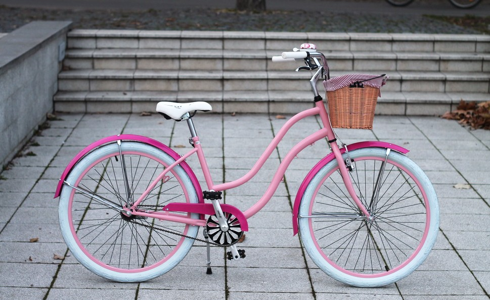 Egyedi Cruiser Női Kerékpár 1 / 3 / 7 sebességes - Rózsa - Pink