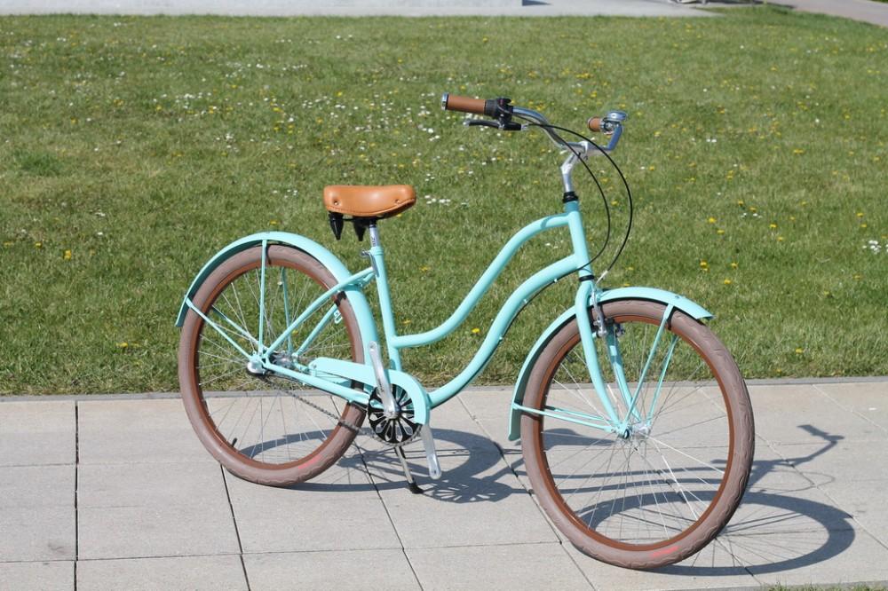 Egyedi Cruiser Női Kerékpár 1sp / 3 sp - Türkiz - Barna