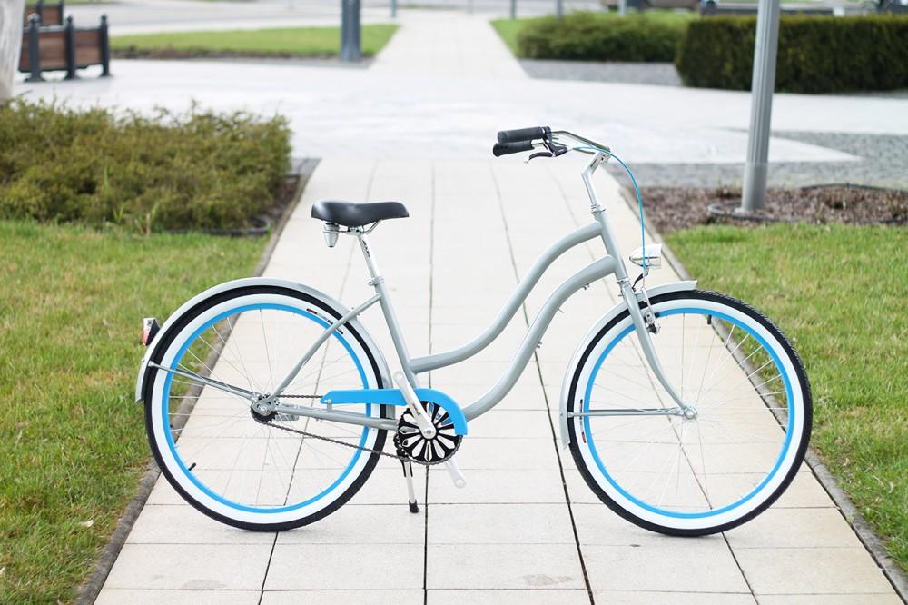 Egyedi Cruiser Női Kerékpár 1sp / 3 sp - Grafit - Kék