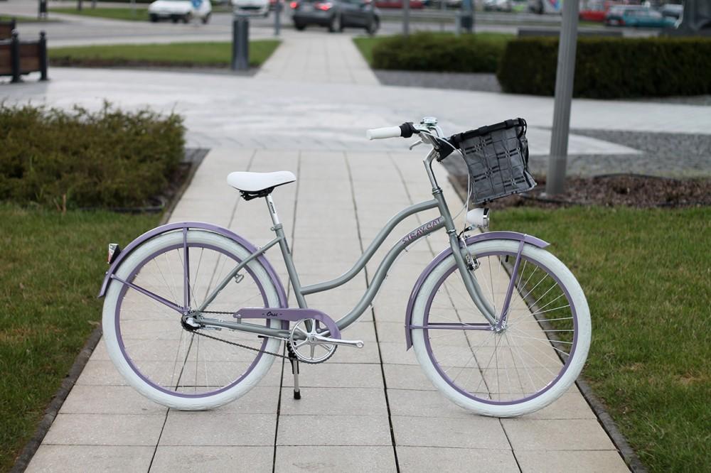 Egyedi Cruiser Női Kerékpár 1 / 3 / 7 sebességes - Grafit - Lila