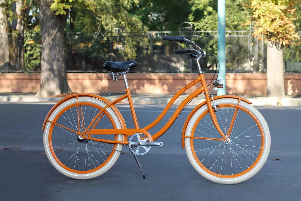 Egyedi Cruiser Női Kerékpár 1sp / 3 sp - Narancs