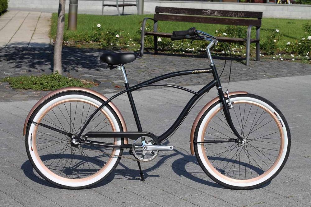 Egyedi Férfi Cruiser Kerékpár - 1sp / 3sp - Fekete - Bronz