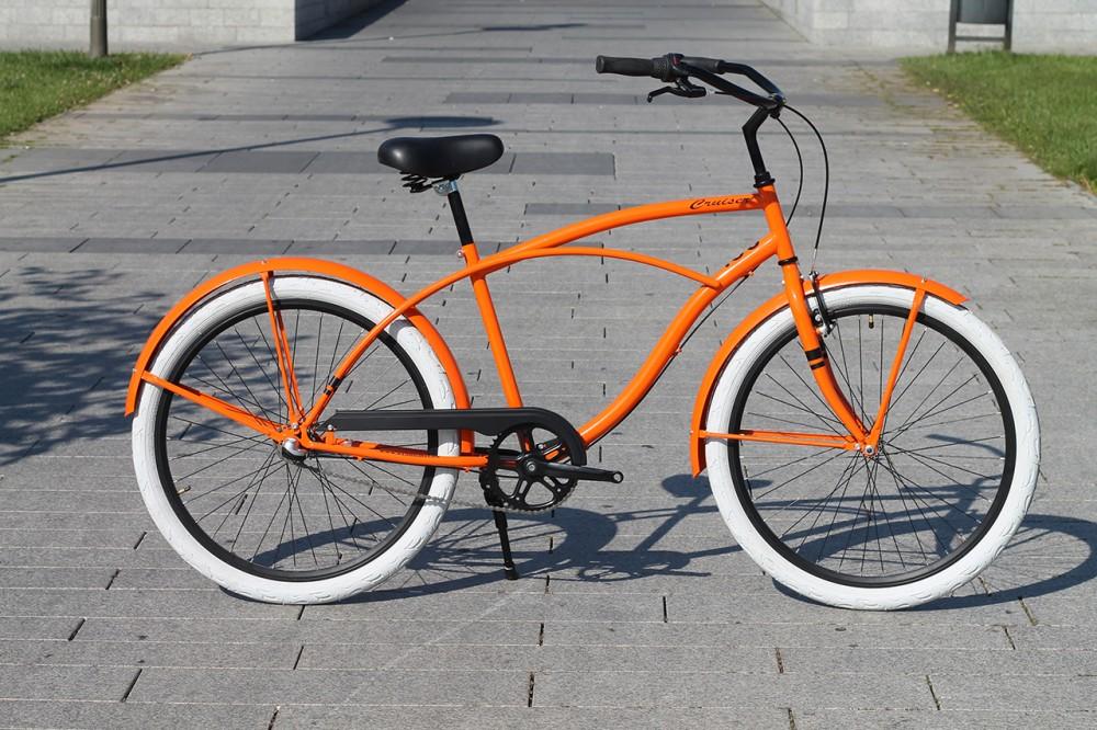 Egyedi Férfi Cruiser Kerékpár - 1 / 3 / 7 sebességes - Narancs
