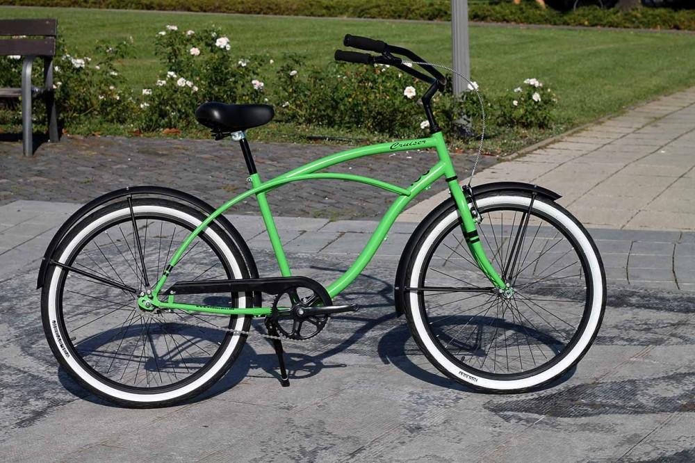 Egyedi Férfi Cruiser Kerékpár - 1 / 3 / 7 sebességes - Zöld