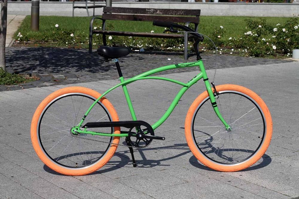 Egyedi Stray Cat Férfi Cruiser Kerékpár - 1sp / 3sp - Zöld