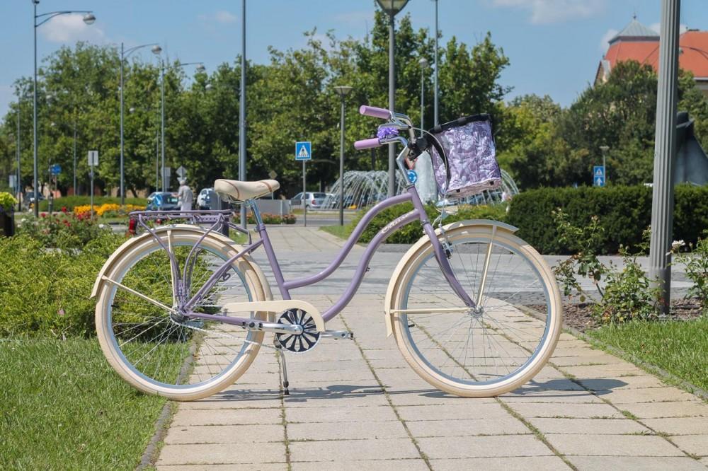 Egyedi Cruiser Női Kerékpár 1 / 3 / 7 sebességes - Lila-Krém