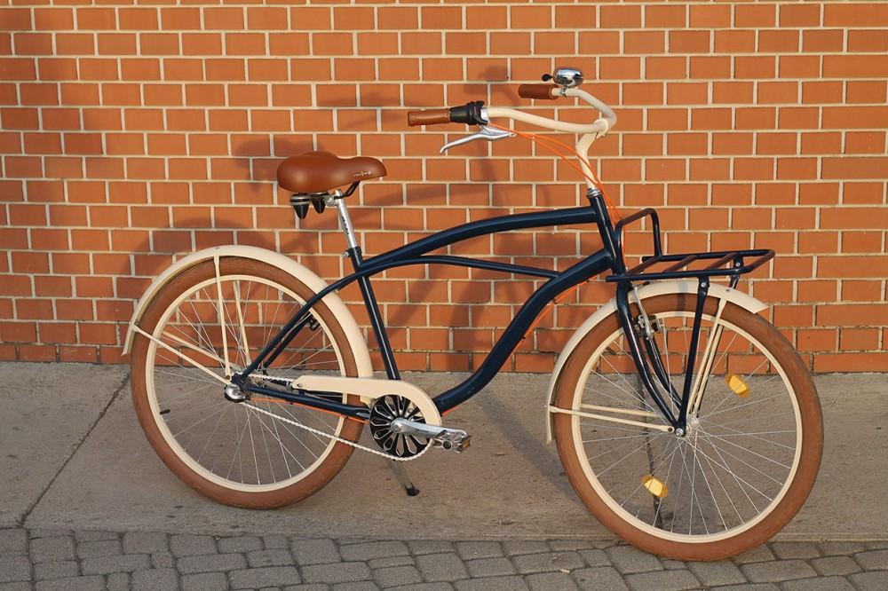 Egyedi Férfi Cruiser Kerékpár - 1sp / 3sp - Sötétkék - Krém