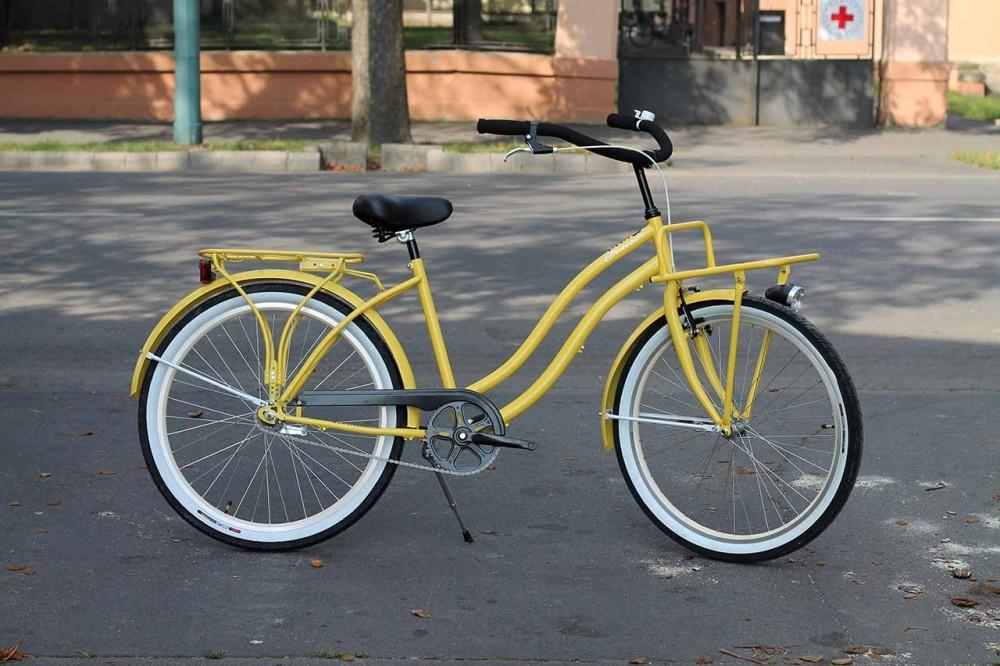 Egyedi Cruiser Női Kerékpár 1 / 3 / 7 sebességes - Sárga