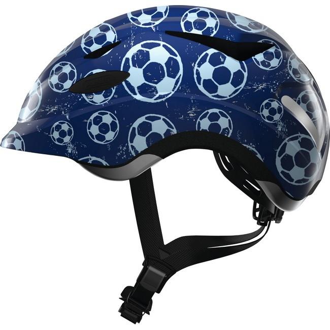 ABUS kerékpáros sisak - Anuky - blue soccer - S