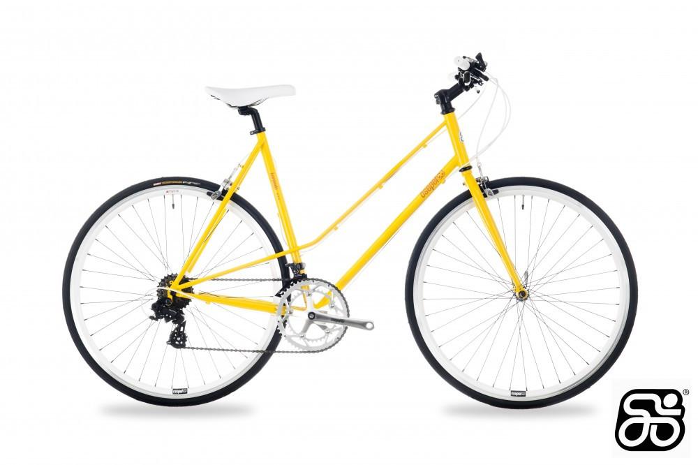 Csepel Torpedo 3* női fitness kerékpár - 14sp - Sárga - 510