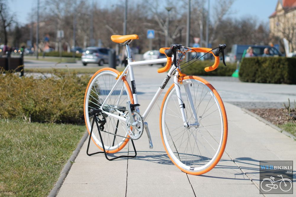 Csepel Torpedo vázra épített egyedi országúti kerékpár - Fékváltókaros