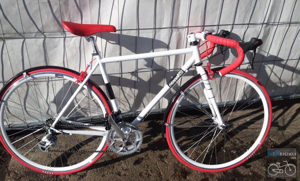 Csepel Torpedo vázra épített egyedi országúti kerékpár - Felszerelt